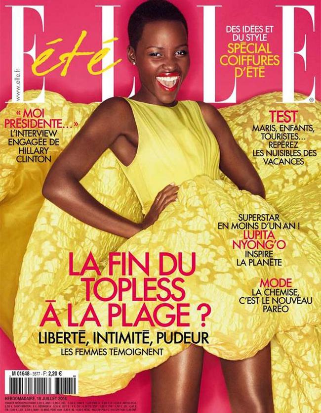 lupita nyongo elle france 2014 cover Modne vesti: Lupita Niongo, seksi Kendis i Dolce&Gabbana