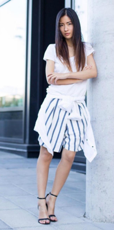 3 Kler Liu Modne blogerke nose: Šortseve različitih dužina