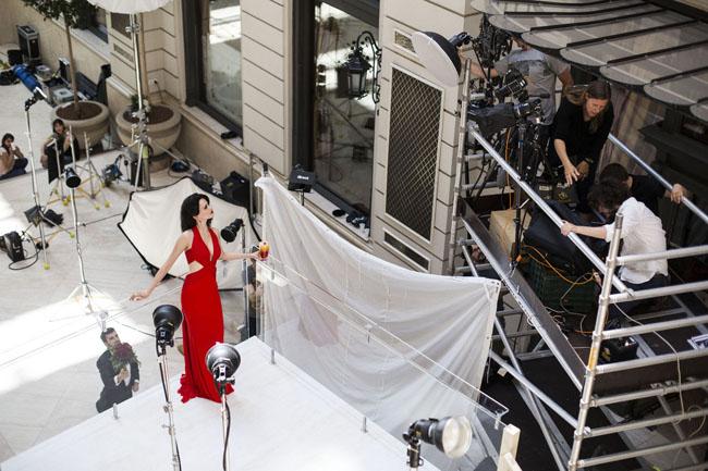 Campari Calendar 2015 BTS July 10 by Francesco Pizzo 6 s Eva Grin zvezda Campari kalendara za 2015. godinu