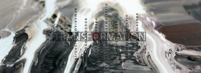 FB cover plakat razlivanje Transformacije: Izložba savremene umetnosti