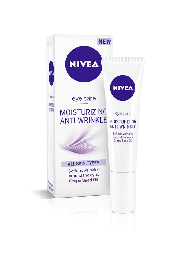 NIVEA moisturizing anti wrinkle EYE Koža i nega: NIVEA hidratantne kreme protiv bora