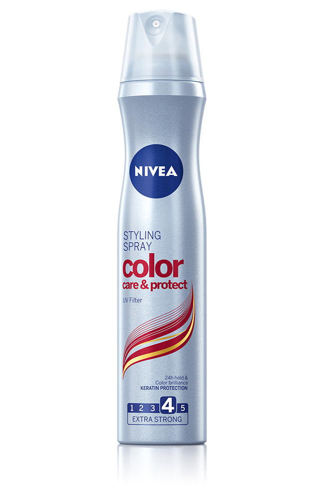 NIVEA Color Care Protect Styling Spray Nega pre svega: Boja koja traje dva puta duže