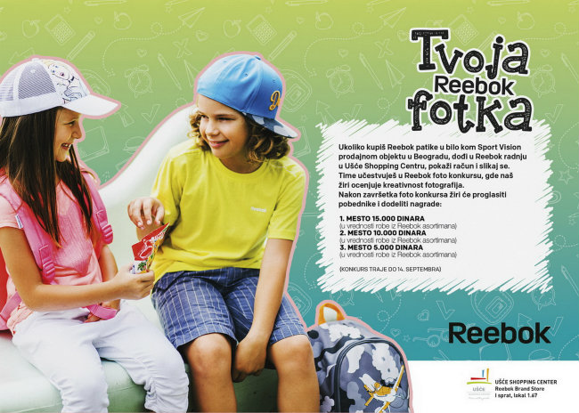 Reebok foto konkurs Reebok za svaki čas!