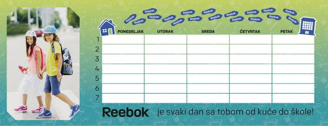 Reebok lični raspored casova Reebok za svaki čas!