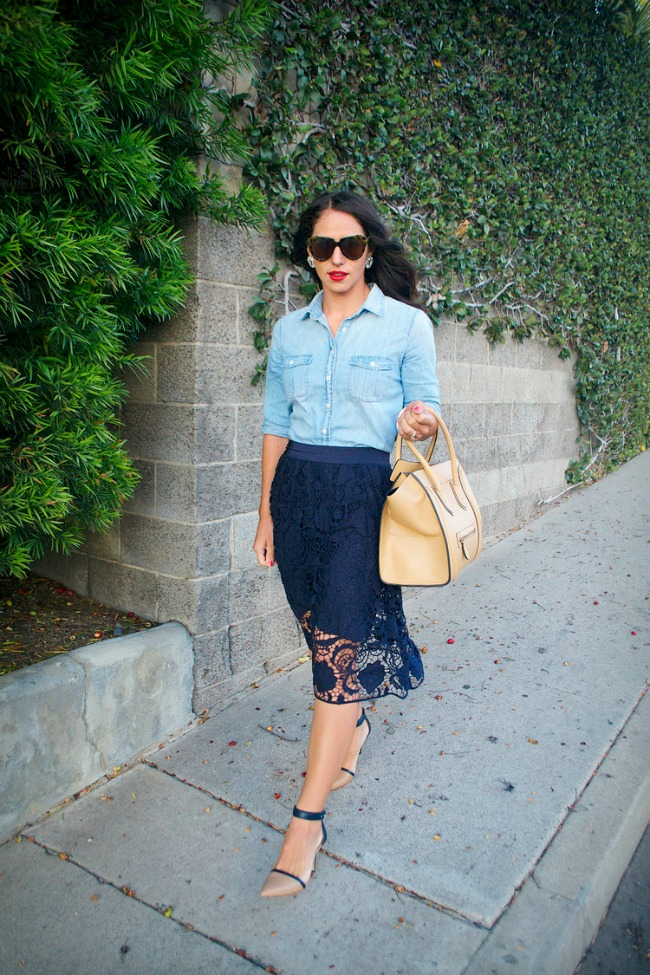 modni saveti odevne kombinacije idealne za posao cipkana suknja Modni saveti: Odevne kombinacije idealne za posao