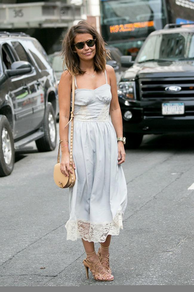 najnoviji street style trend brusa bez letnja haljina Najnoviji trend: Brusa bez!