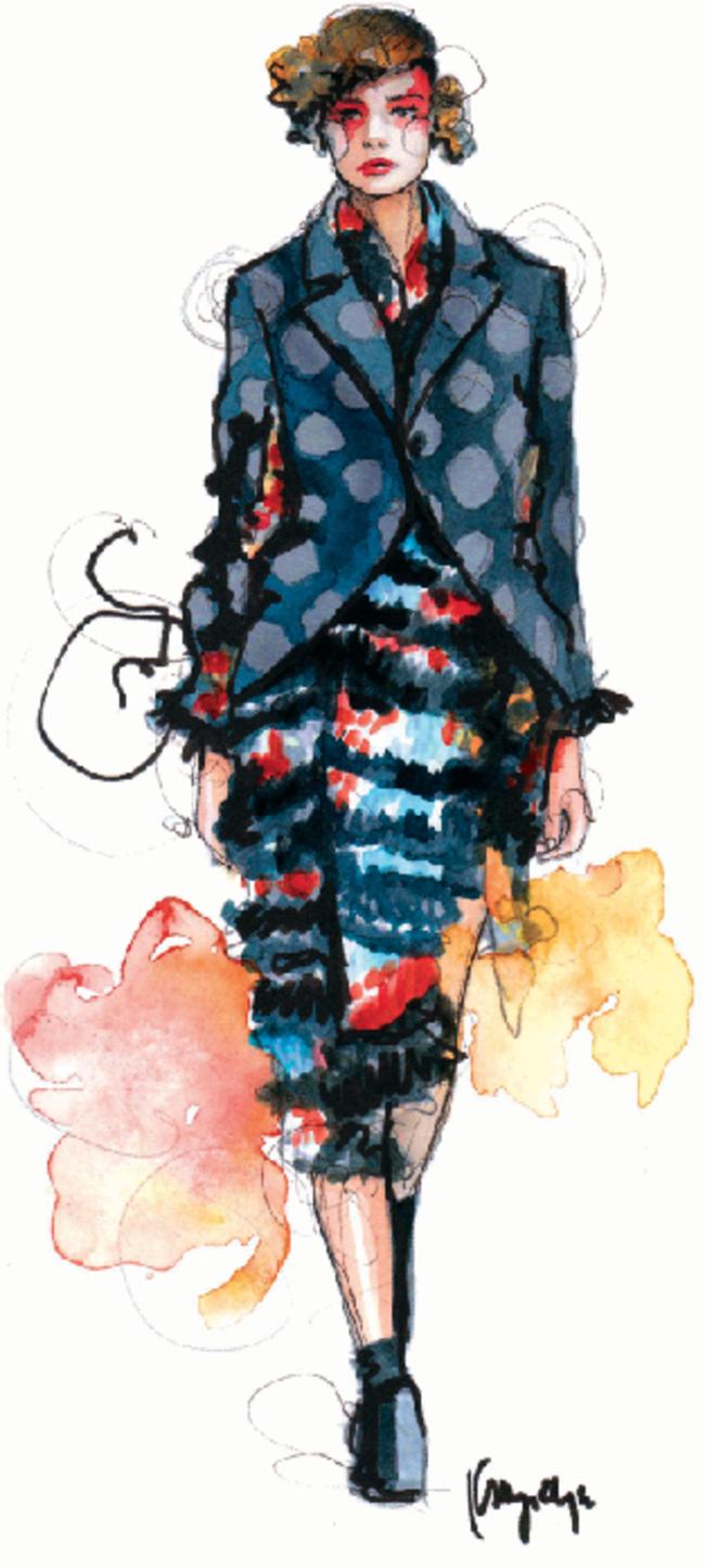 paper fashion1 Moda i umetnost: Najbolji blogovi sa modnim ilustracijama