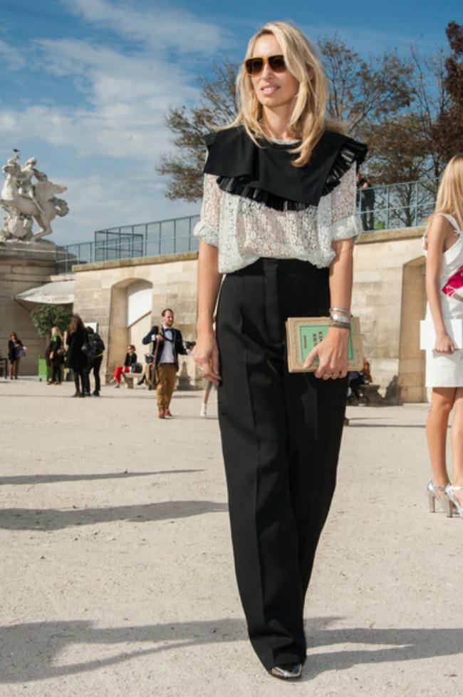 street style aleksandra golovanof crno bela kombinacija Najbolje odevne kombinacije novinarke Aleksandre Golovanof