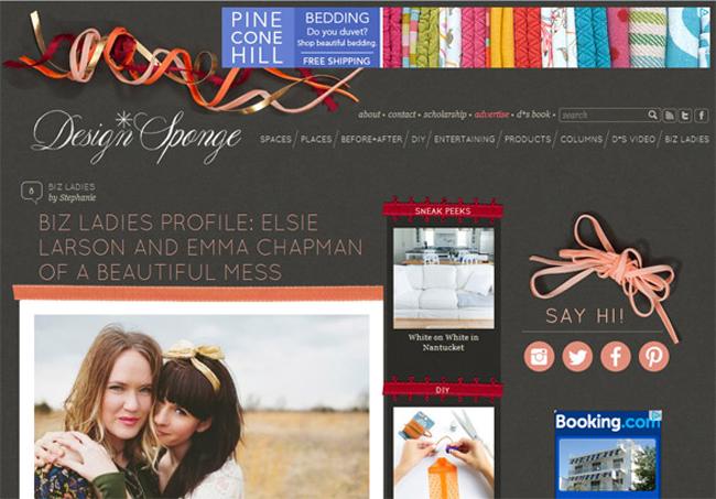 Design Sponge Website Veb sajtovi koji će vas nadahnuti
