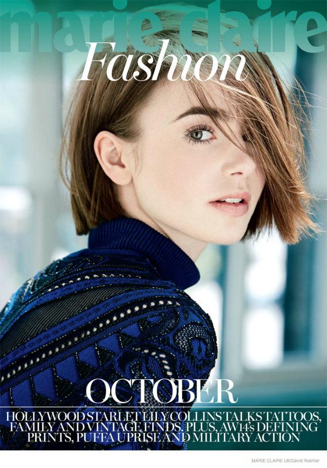 Lili Kolins na naslovnici magazina Marie Claire UK Modne vesti: Poslednja revija, bose noge i glumica na naslovnici