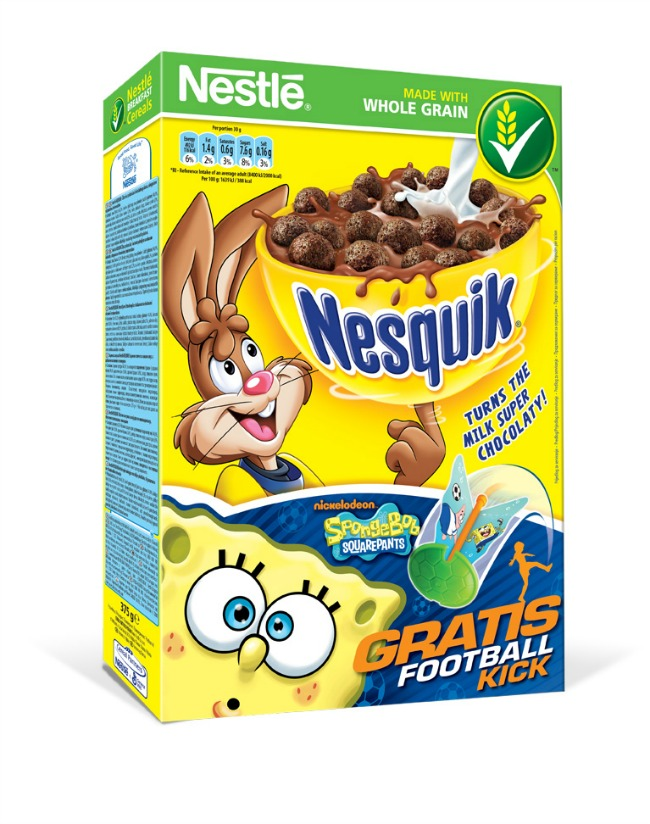 Nestle Nesquik Sundjer Bob Sunđer Bob Kockalone uz Nestlé žitarice za decu
