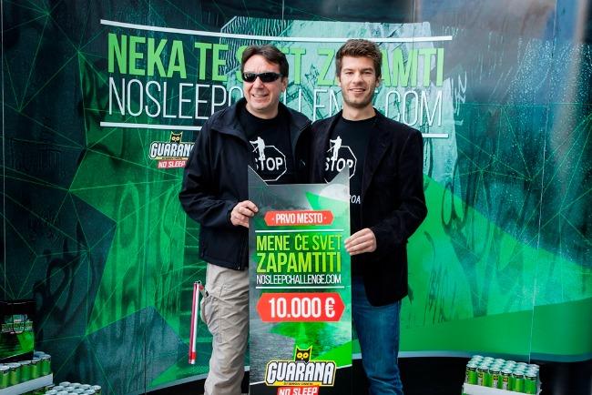 No Sleep Chalenge Aleksandar i Slavoljub prva nagrada Guarana NOSLEEPCHALLENGE: Dodeljene nagrade najboljima