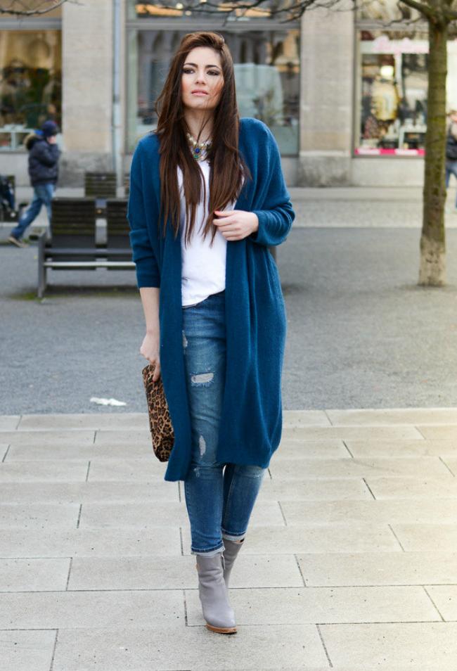 Plavi Šta obući ove nedelje: Dugački kardigan