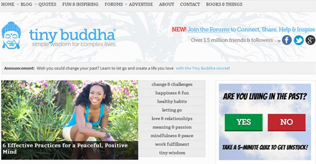 Tiny Buddha Website Veb sajtovi koji će vas nadahnuti