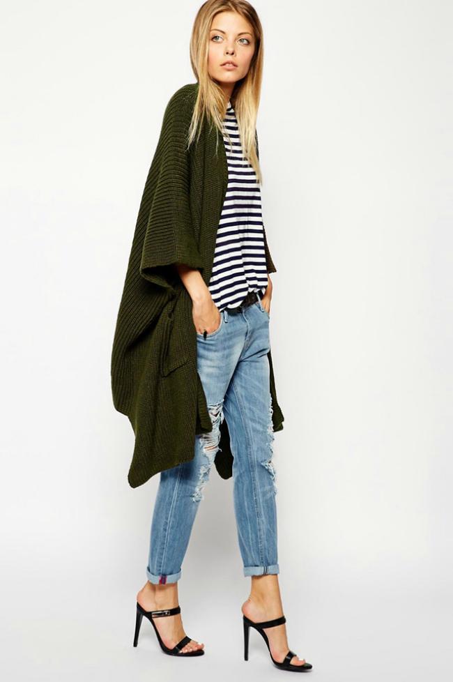 Zeleni Šta obući ove nedelje: Dugački kardigan