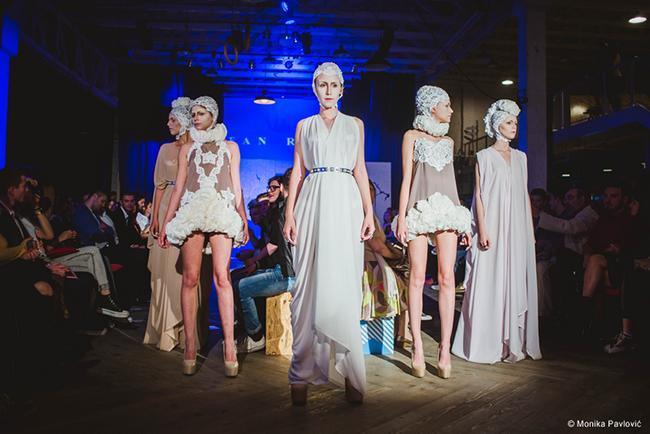 detalj revija Stefana Ristica BAFE: Regionalni konkurs za modne dizajnere i fotografe