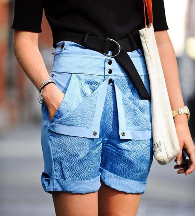 duboki sorts Street style na njujorškoj Nedelji mode