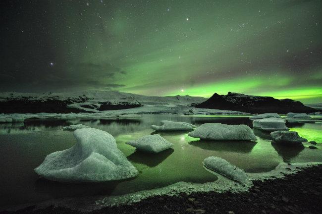 polarna svetlost Kada posetiti Island