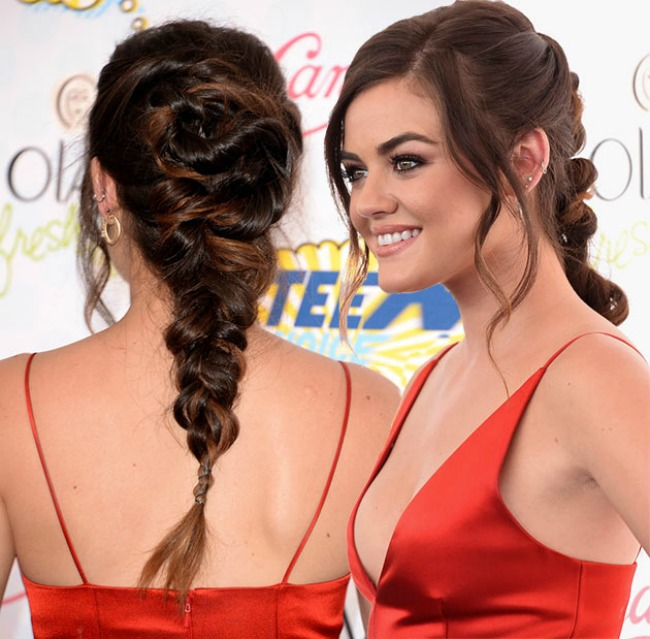 stajlis frizure poznatih neuredne pletenice lusi hejl Stajliš frizure poznatih: Neuredne pletenice