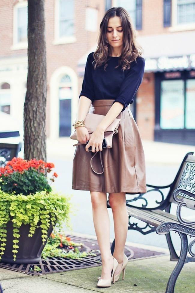trend alarm ponesite kozu ove jeseni suknja a kroja Iskopiraj trend: Nosi kožne komade