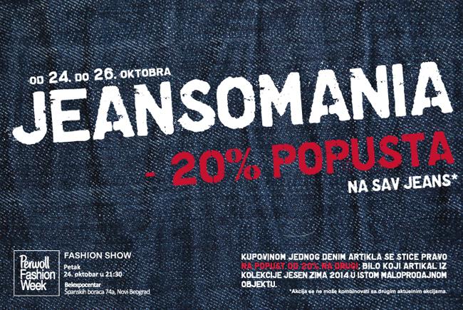Fashion Company akcija JEANS & DANCE: Sjajan popust na sav džins iz kolekcije jesen/zima 2014.