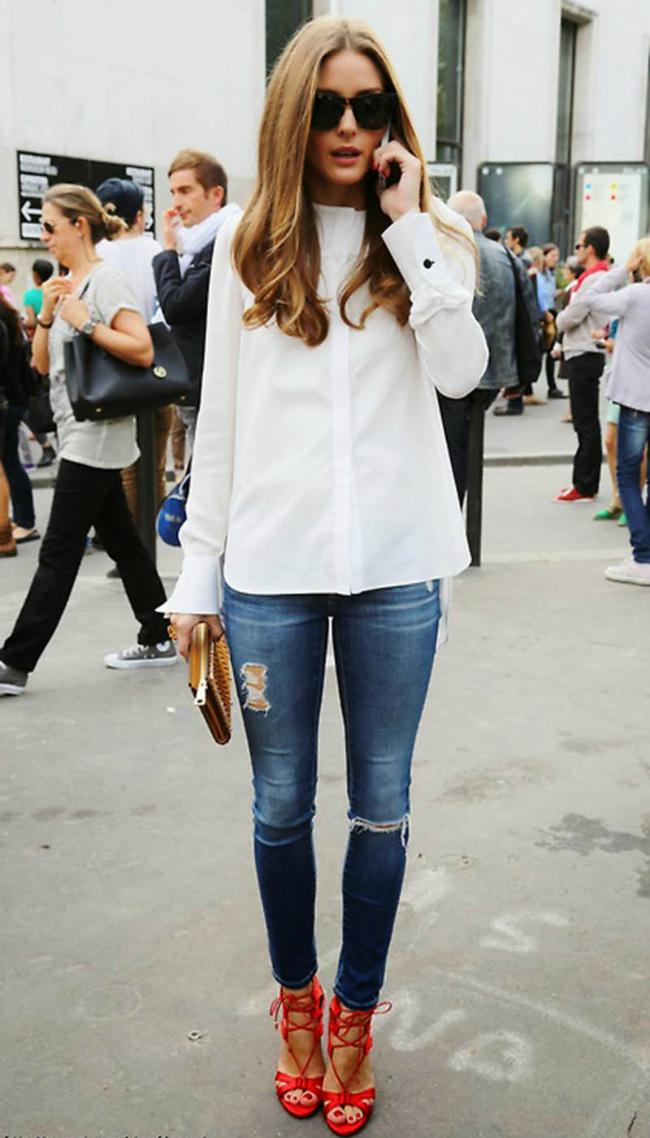 Olivija Šta obući ove nedelje: Bela košulja na sedam načina