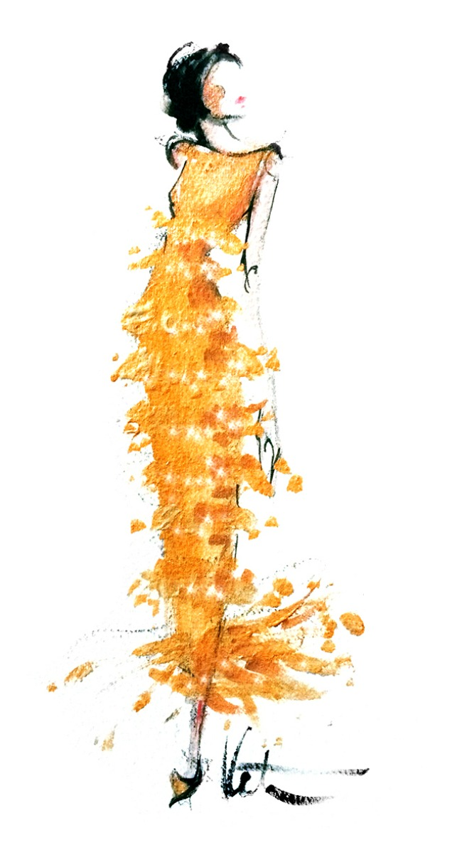 Oskar De La Renta 12 Ilustracije inspirisane delom Oskara de la Rente