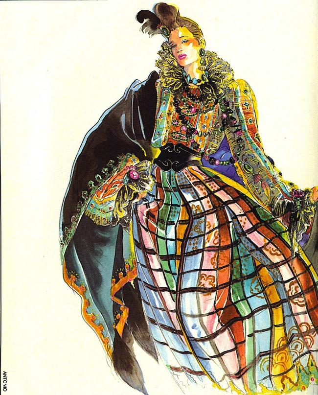 Oskar De La Renta 4 Ilustracije inspirisane delom Oskara de la Rente