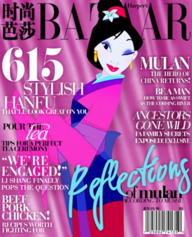 crtani junaci krase naslovnice modnih magazina princeza mulan Kad crtani junaci krase naslovnice modnih magazina