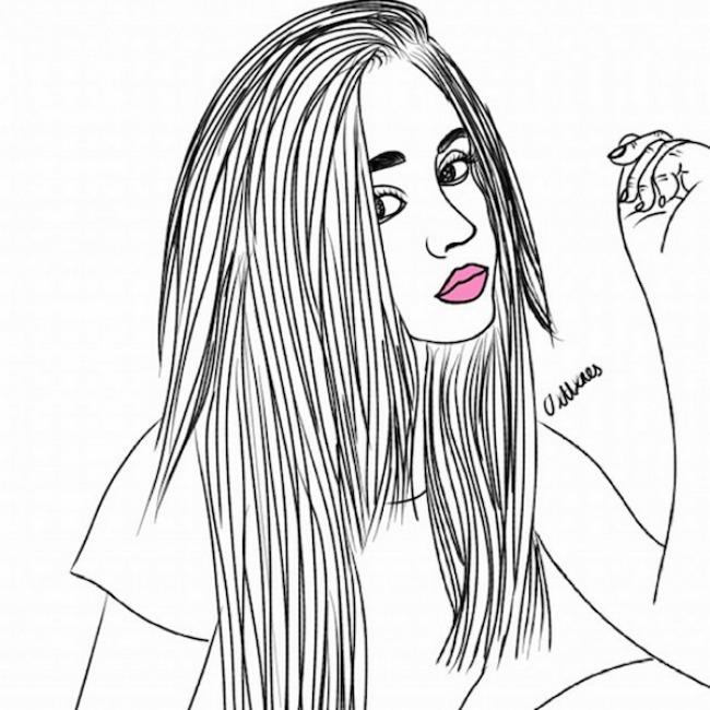 crtež 66 Selfi iscrtan rukom