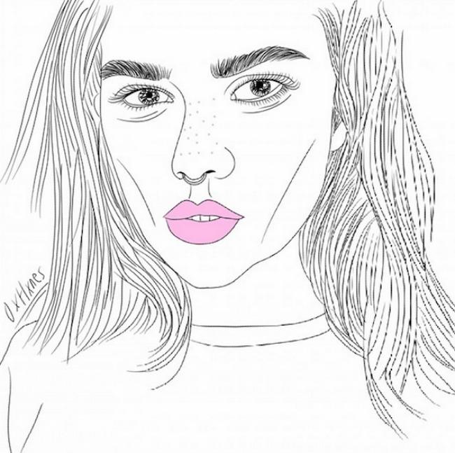 crtež33 Selfi iscrtan rukom