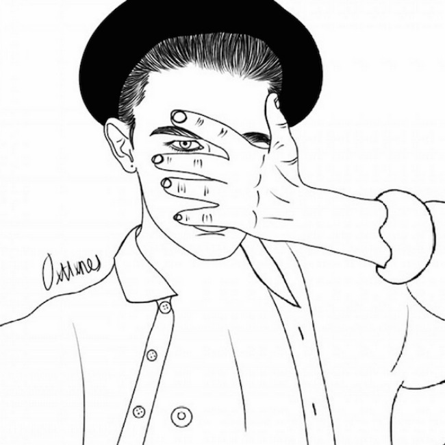 crtež44 Selfi iscrtan rukom