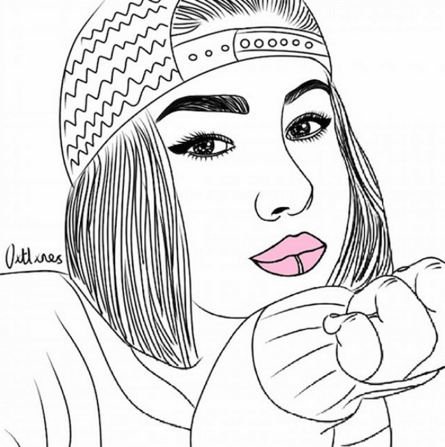 crtež55 Selfi iscrtan rukom