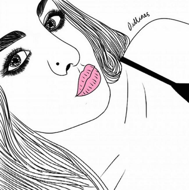 crtež77 Selfi iscrtan rukom
