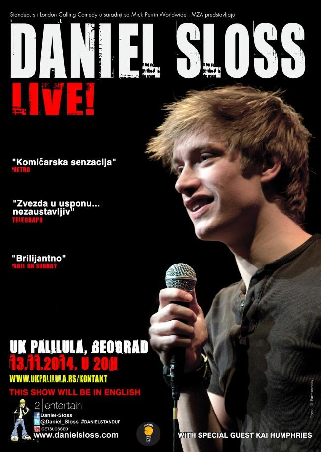 daniel sloss live Stand up komedija iz Velike Britanije: Daniel Sloss