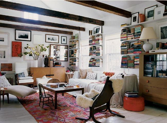 horizontalno ređanje knjiga Originalne ideje za dekoraciju prostora