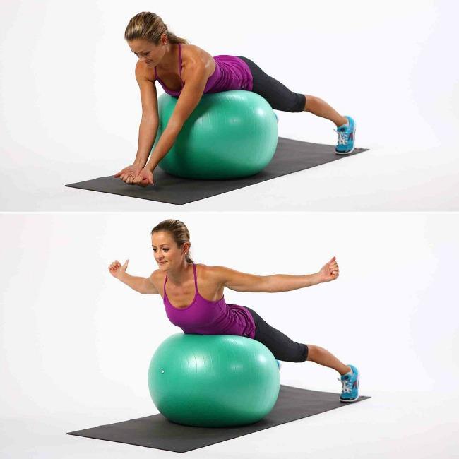 istezanje ledja1 Jednostavne vežbe sa loptom za pilates