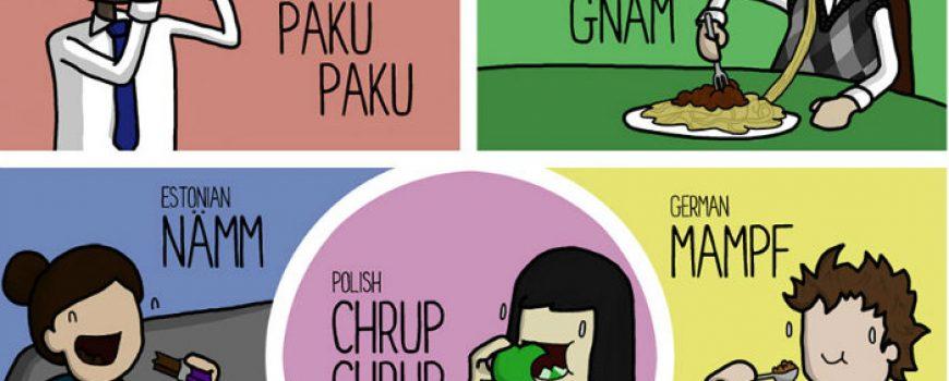 Kako poljupci, i bol zvuče na različitim jezicima