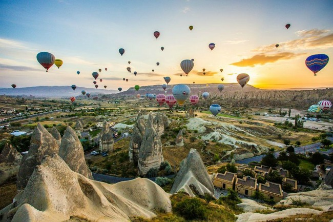 kapadokia Najlepši svetski festivali vazdušnih balona