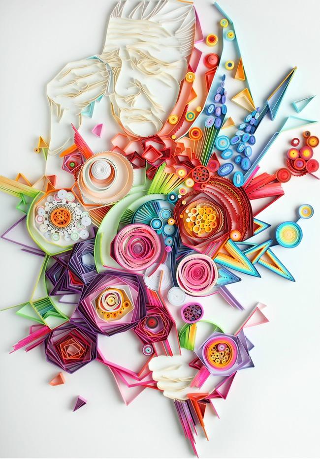 neobicna umetnost neverovatni crtezi napravljeni od rolni papira 6 Neobična umetnost: Neverovatni crteži napravljeni od rolni papira