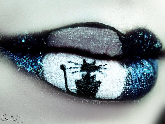 ruz za noc vestica 11 Usne u stilu Noći veštica
