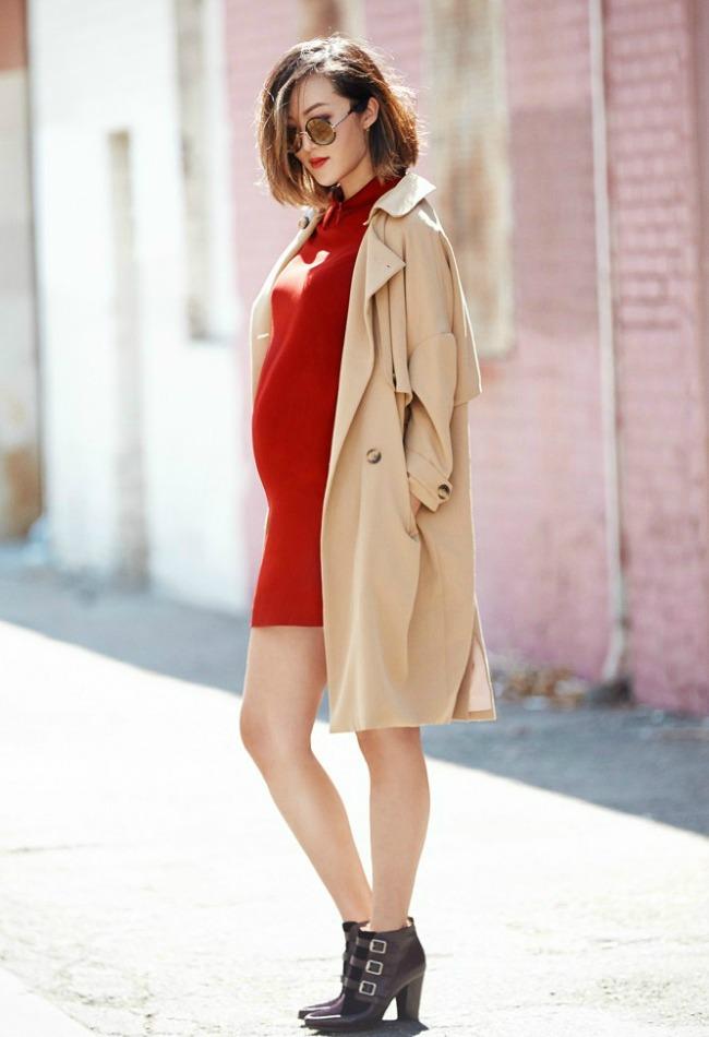 trend alarm nosite crveno ove jeseni crvena pletena haljina1 Trend alarm: Nosite crveno ove jeseni