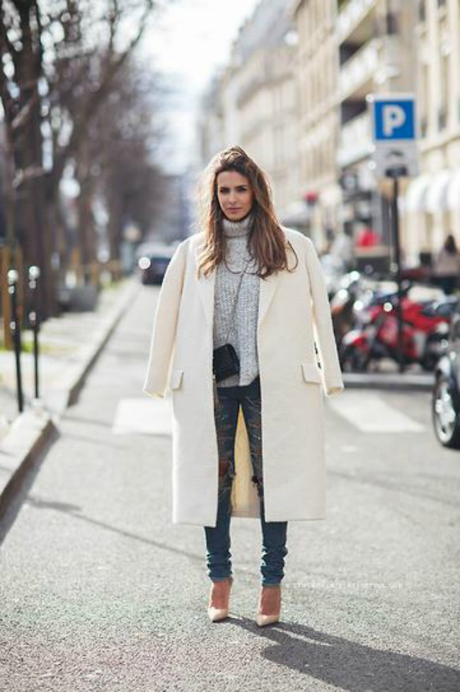 trendseterke nose beli kaput ove jeseni street style 1 Trendseterke nose beli kaput ove jeseni