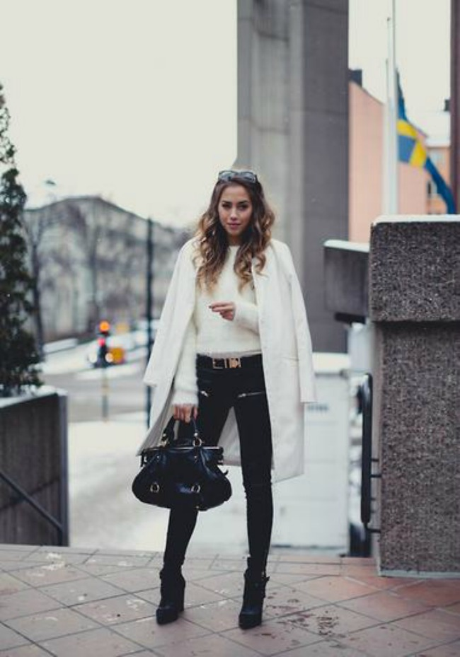 trendseterke nose beli kaput ove jeseni street style 7 Trendseterke nose beli kaput ove jeseni