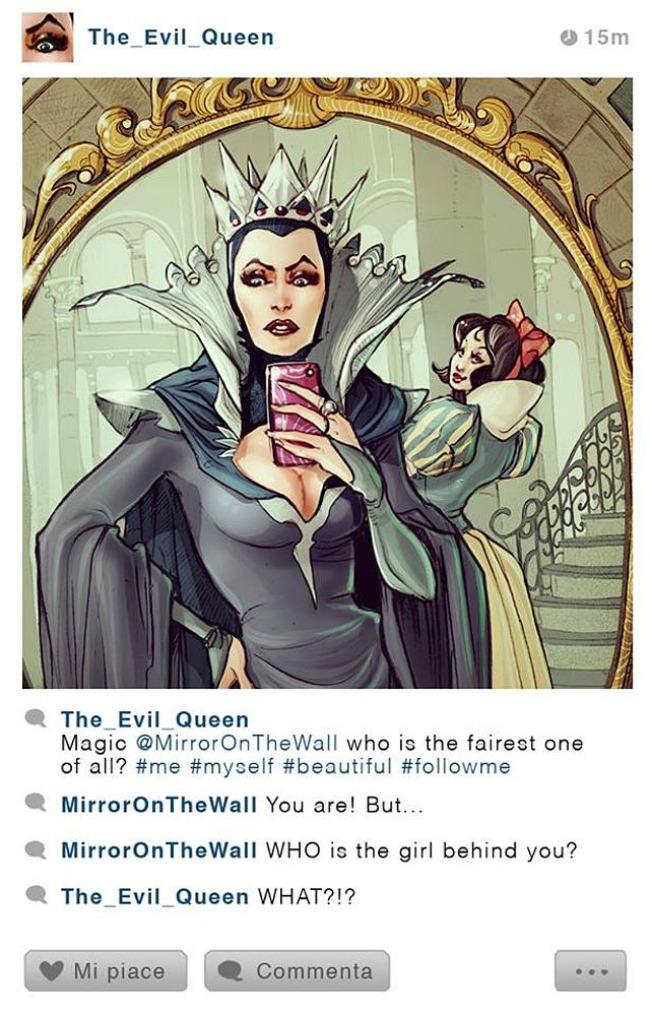 zla kraljica1 Diznijevi junaci na Instagramu