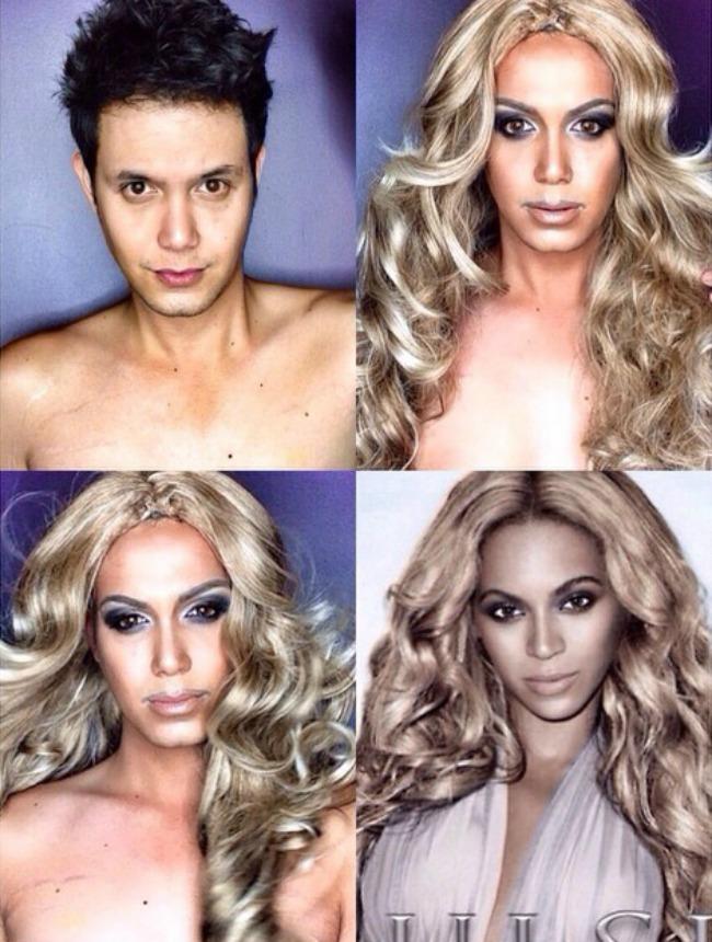 Šta sve može šminka Muškarac kao ženske zvede Bijonse Šta sve može šminka: Muškarac kao ženske zvezde