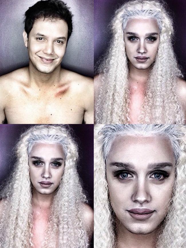 Šta sve može šminka Muškarac kao ženske zvede Deneris Tajgerijan Šta sve može šminka: Muškarac kao ženske zvezde