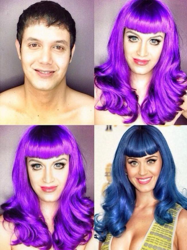 Šta sve može šminka Muškarac kao ženske zvede Keti Peri Šta sve može šminka: Muškarac kao ženske zvezde