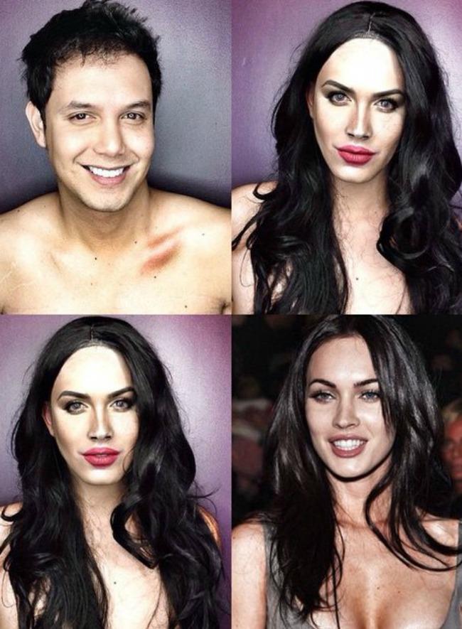 Šta sve može šminka Muškarac kao ženske zvede Megan Foks Šta sve može šminka: Muškarac kao ženske zvezde