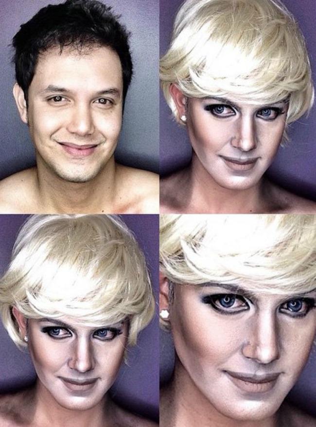 Šta sve može šminka Muškarac kao ženske zvede Princeza Dajana Šta sve može šminka: Muškarac kao ženske zvezde